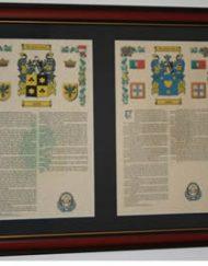 A4 double framed armorials