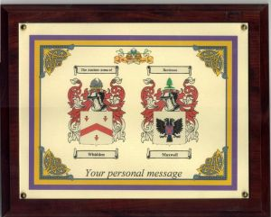 Anniversary 2 Coats of Arms 11 x 17 Framed