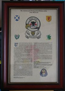 Clan Badge & History 17 x 11 in Heritage Frame