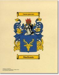Coat of Arms print 8.5 x 11 unframed