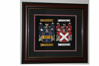 Double A4 embroidered Coats of Arms