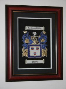 Embroidered A4 Coat of Arms Framed