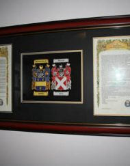 Embroidered double A4 coa & Surname History