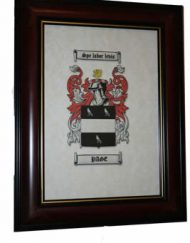 Family A4 Coat of Arms in Heritage brown frame