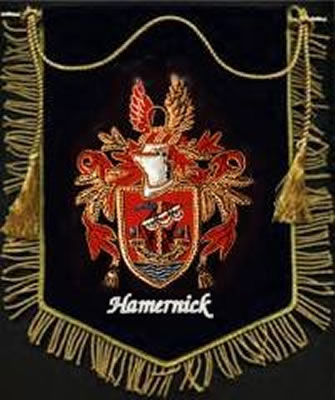Hand Embroidered Coat of Arms Banner