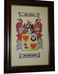 "Large 17"" x 11"" Coat of Arms Framed"