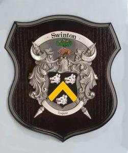 Large Pewter Shield