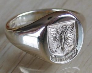 Mens Sterling Silver Ring Style A