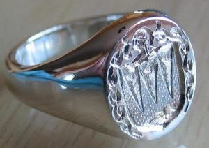 Mens Sterling Silver Ring Style B