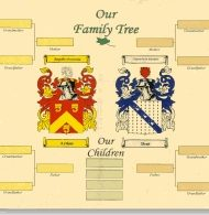 Record Your Own Family Tree 11 x 17 unframed