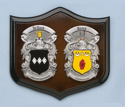 Small Double Pewter Shield