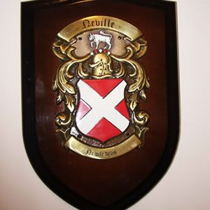 Small Shield, Hand Cast BRASS