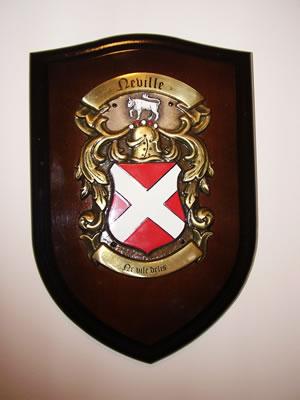 Small Shield, Hand Cast BRASS